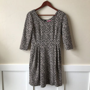 Betsey Johnson Fit and Flare Leopard Print Dress